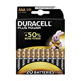 Duracell Batterie AAA, Micro (LR03, MN2400) Plus Power; 20Pack