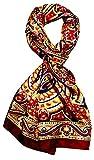 LORENZO CANA Herrenschal 100% Seide Seidenschal 50 cm x 170 cm Paisleymuster Tuch Schal Designerschal 8907611