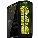 SilverStone SST-PM01B-RGB - Cabinet da gaming Primera Mid-Tower ATX , Silent High Airflow Performance, con finestra, RGB LED, nero