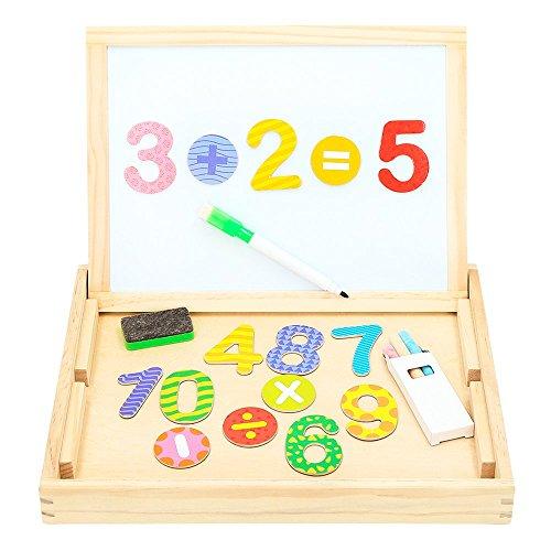 ColorBaby - Pizarra madera doble & números magnéticos