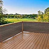 Frilivin Schermata Privacy Fence Mesh Parabrezza per Backyard Ponte Terrazza Balcone Piscina Veranda Ringhiera (0.9x2.7m, Marrone)