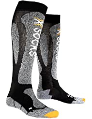 X-Socks Funktionssocke Ski Carving Silver - Calcetines, color negro, gris, talla 39-41