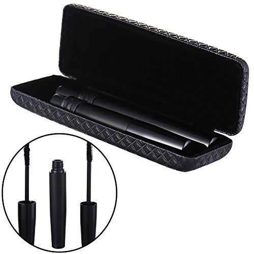 Pack von 2 Reisen 3D Fiber Wimpern Mascara Natural Black Wimpern Extender Extentionen mit Aufbewahrungsbox (Wimpern-extender)