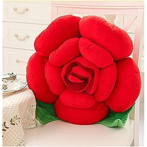 Comfortable De dibujos animados Rose almohada cojines del sofá del coche cojines decorativos Flores almohada de noche Cojines ( Color : 6# , Tamaño : 60cm )