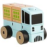 Ultrakidz 331900000091 Lastwagen aus Naturholz, 6-teilig
