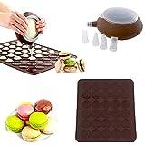 Sahnetorten Milchsaucen Topf mit 4 Spritzt/üllen zum Zubereiten und Verzieren von Desserts AsentechUK/® Silikon-Spritztopf Makronen