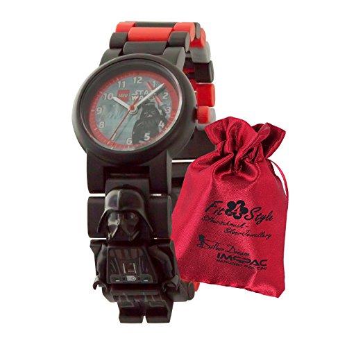Lego Star Wars Darth Vader Niños Niños de reloj con eslabones intercambiables ule8021018