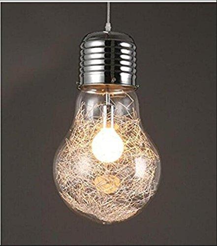 nabotht créative lustres de verre Big Ampoule chambre
