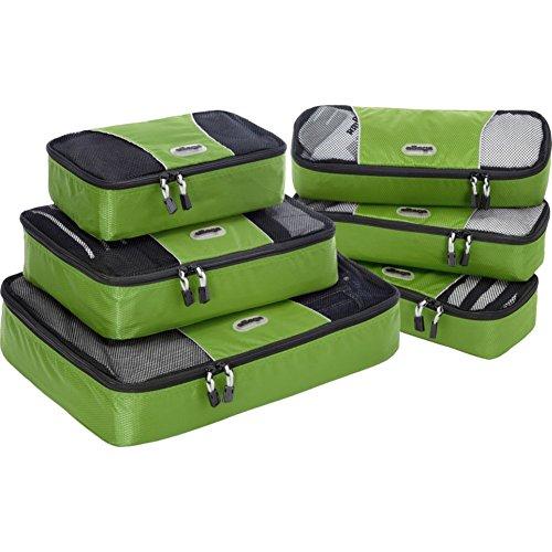 eBags Packing Cubes: 6-teiliges Packwürfel-Set gemischt - Grasgrün