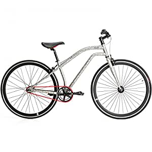 Chill Bikes Vogue Fixie Singlespeed Fahrrad Citybike Design Snake Leopard Zebra, Farbe:Snake