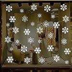 Gudotra Vetrofanie Natale Statico Senza Colla Non Facile da Eliminare per Murali Finestra Decorazioni Natalizie Vetrina Sfondo