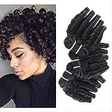 Saijh Vague Liasses Naturel Couleur brésilien Cheveux Tisser Liasses 3 PIÈCES 8-18 Pouces Non-Remy Humain Cheveux Extension,14''