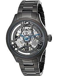 Stührling Original Winchester 784 - Reloj automático, para hombre, con correa de acero inoxidable, color negro
