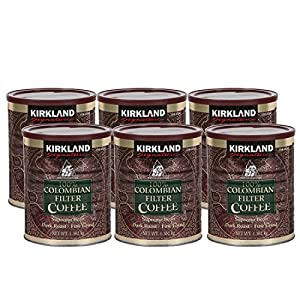 Kirkland Signature 100% Colombian Ground Filter Coffee, 1.362 kg