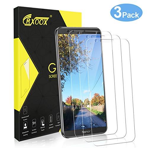 CRXOOX 3 Stück Panzerglas Schutzfolie für Huawei Honor 9 Lite, Panzerglasfolie Displayschutzfolie Folie für Honor9 h9 Lite