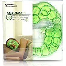 """Cooling Gel Face Mask Hot and Cold Eye Compress Ice Mask for Headaches,Hangovers,Migraines and Puffy Eyes- 8.3""""x28.3"""""""