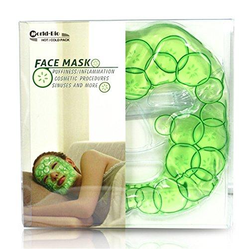 """Gel-Gesichtsmaske Kältemaske Kühlmaske Augenmaske Entspannungsmaske und Wellnessmaske für Augen und Gesicht. kalte und warme Anwendungen gegen Müdigkeit,Schlaflosigkeit,mit Haftband–Erfrischt die Gesichtshaut, 8.3""""x28.3"""""""