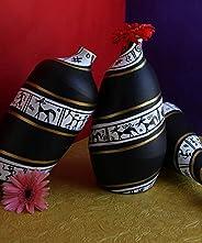 KALAPURI® Handmade Warali Design Terracotta Pot Set Idols and Figurines/Home décor/Showpieces