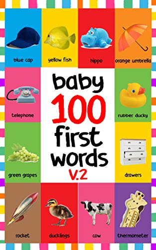 BABY 100 FIRST WORDS V.2: FLASH CARDS IN KINDLE EDITION, BABY ...