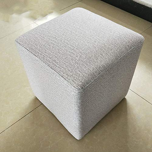 ZLL Chair-Bar Hocker Fußhocker Massivholz + Baumwolle und Leinen Modern Fashion Cosmetic Hocker Freizeit Hocker 31 * 31 * 35cm (Länge, Breite, Höhe) -
