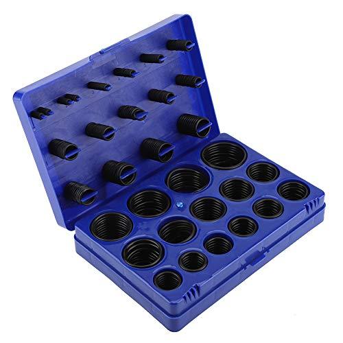 TOPINCN Dichtungs-O-Ring-Kit Abriebfeste Gummiringe für Boot Auto Auto Fahrzeug-Reparatur-Maschine Pipeline Seal Sortiment Set mit Aufbewahrungskoffer(Blau) - Ring-kompressor Kit