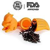 iNeibo silikon teesieb teefilter, sehr lustiges Eichhörnchen Design BPA frei (2er Pack) Vergleich