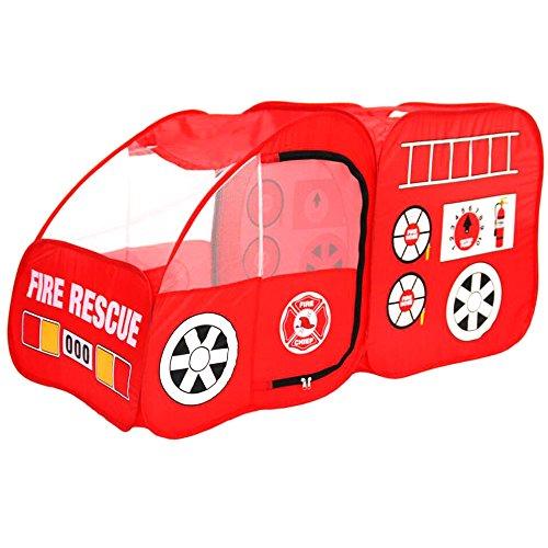 Georgie Porgy Kinder Pop Up Spielzelt Nettes Auto Spiel Spielzeug Faltbare Tragbare Spielhaus Indoor Outdoor Für Jungen Mädchen Vorschule Kindergarten (Feuerwehrauto)