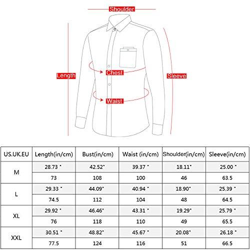 Zicac Frühling Männer Slim Fit Langarm-Shirt Business Casual Umlegekragen Aus Reiner Baumwolle Shirt Blau