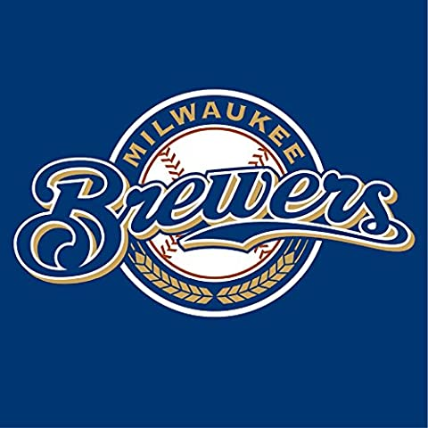 Milwaukee Brewers MLB Casquette de baseball avec blason mural en vinyle autocollant Sticker mural Art 60 cm x 60 cm Grand (600 x 600 mm)