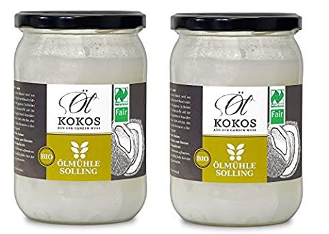 Ölmühle Solling Kokosöl 2x500ml nativ Naturland FAIR - BIO - 2er Set