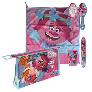 Trolls Set neceser higiene comedor escuela, color fucsia, 23 cm (Artesanía Cerdá 2500000685)