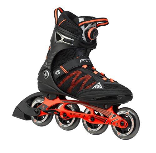 K2 Herren Inline-Skate F.I.T Boa, schwarz/rot, 12, 3050000.1.1.120