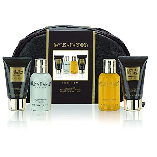 Baylis & Harding Black Pepper and Ginseng Wash Bag Set for Men