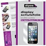 6x Dipos Crystalclear Displayschutzfolie Apple iPhone 5 5S SE für die Vorder- und Rückseite (4x VORNE + 2x HINTEN)
