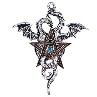 Dragon Star Pentagram Sparkling Crystal Amulet Necklace, Beautiful, Stella Dracis