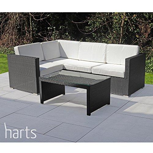 Harts Large Comfortable Corner Rattan sofa Garden Patio Furniture Outdoor &  Indoor
