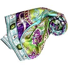 Lorenzo Cana Luxus Damen Seidentuch aufw/ändig bedruckt Tuch 100/% Seide 70 x 70 cm harmonische Farben Damentuch Schaltuch 89056