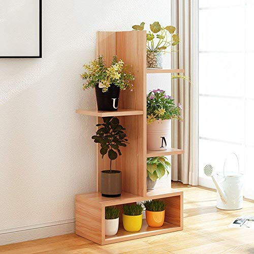 LLYU Stand de fleurs, porte-terrasse plancher en bois multicouche support créatif plante en pot multifonctionnel (taille : 41.2 * 21.2 * 90cm)