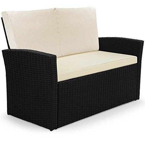 Rattan Sitzgruppe aus leichtem Aluminium Lounge Set Sitzgarnitur Gartenliege Gartenset Kissen - 7