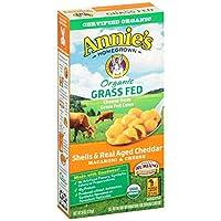 Annie'S - Organic Grass Fed Macaroni & Cheese Shells Real Aged Cheddar 6 Oz. 151106