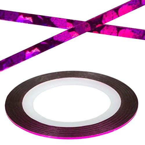 Bandes de Nail Art Violet Clair Stripes Laser décorative Strip Stripes autocollant ongles Design