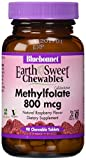 Bluebonnet Nutrition EarthSweet Chewables Cellular Active Methylfolate, 90 Chewable Tabs 800 mcg