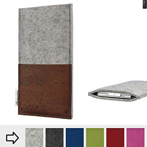 flat.design Handy Hülle Evora für Ruggear RG850 maßgefertigte Handytasche Kork Filz Tasche Case fair