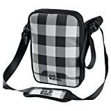 JACK WOLFSKIN Schultertasche GADGETARY, grey lumber check, ONE SIZE, 8001141-7964