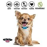 Anti bark Halsband Stop Hund Bellen Halsband, keine Schock Barke Kontrolle Ausbildung Kragen für kleine und mittlere Hunde humane und sichere Barke Abschreckung jafaa Anti Bark Collars keine Rinde