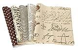 VBS Stoffpaket 5 Stück - Script-Nature - 20x29,5 cm