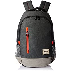 Gear Classic 24 Ltrs Charcoal Grey-Orange Casual Backpack (BKPCMPUS80406)