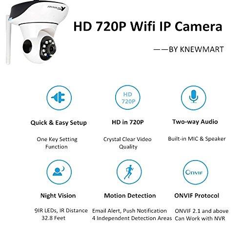 720P HD IP Kamera Wireless Wifi Sicherheit ONVIF Innen Nachtsicht Netzwerk Baby Monitor Von KNEWMART - 2