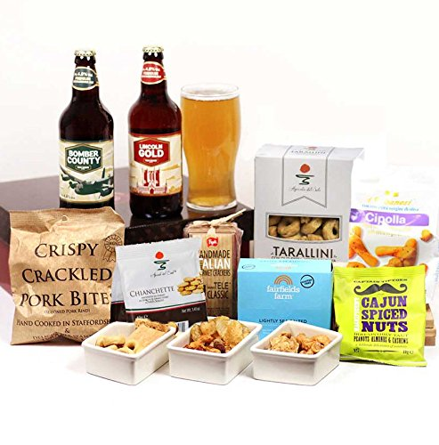 Craft Beer & Bar Snacks Hamper Gift Box