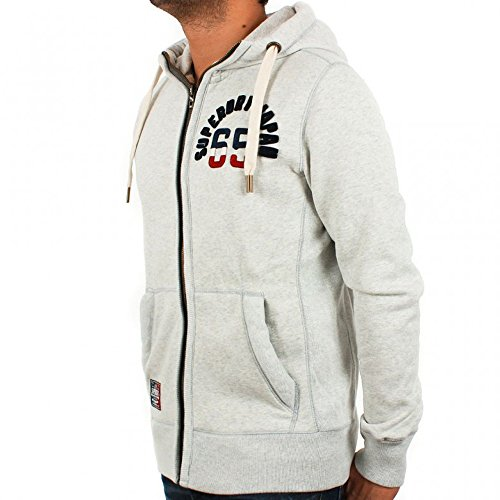 Superdry Sweatjacke Core Applique-Ziphood grau Grau